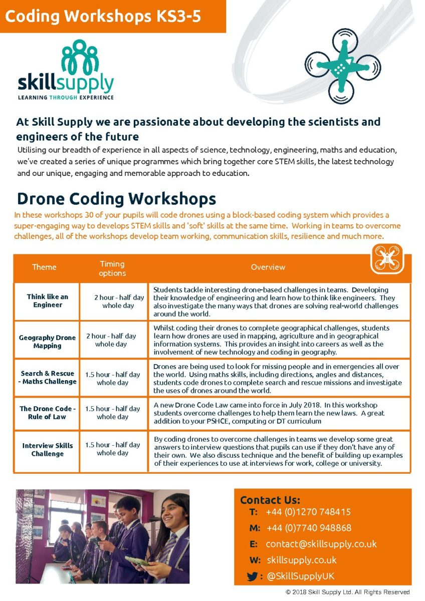 Secondary Drone Coding – Skill Supply