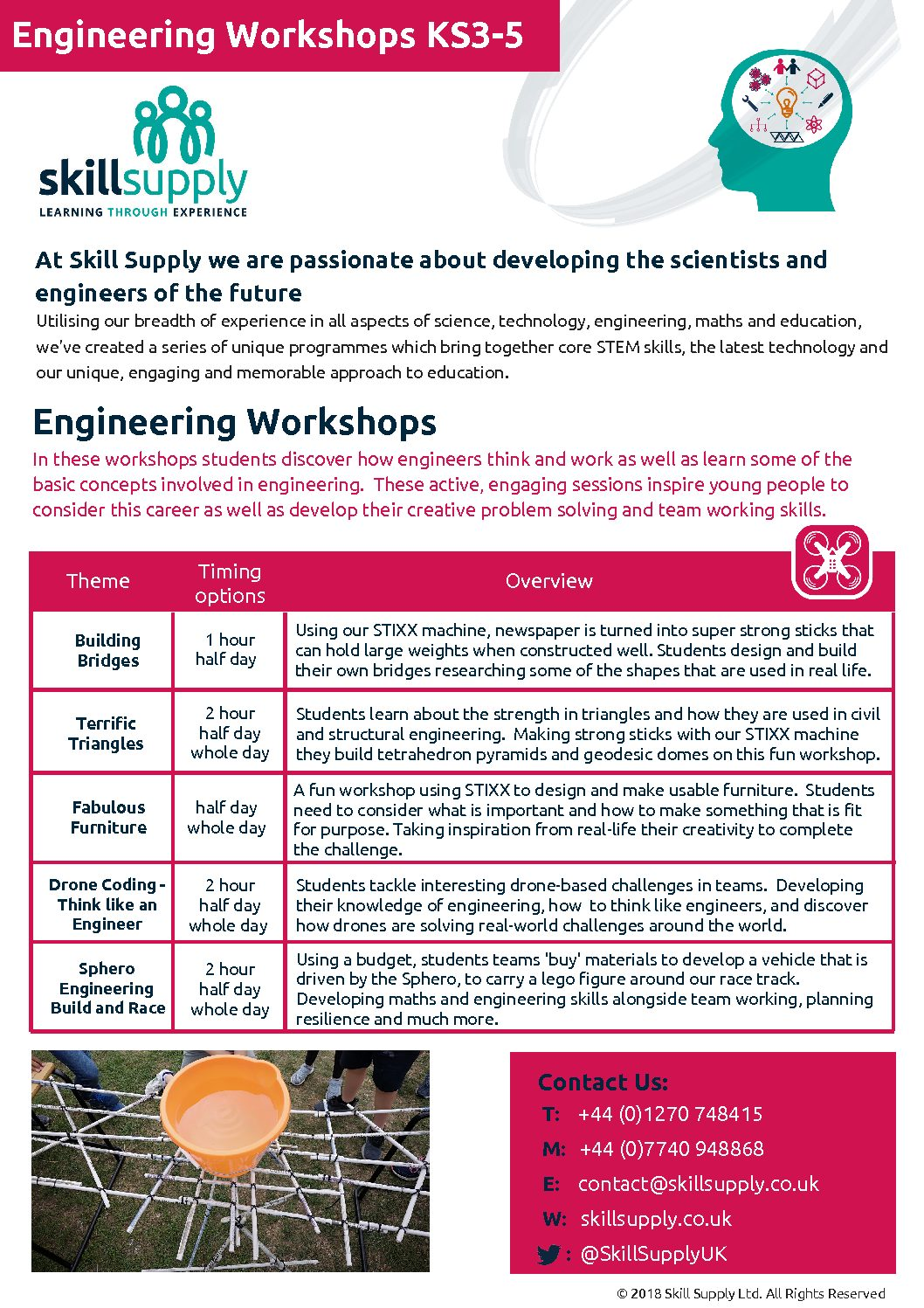 Secondary Engineering Workshops – Skill Supply