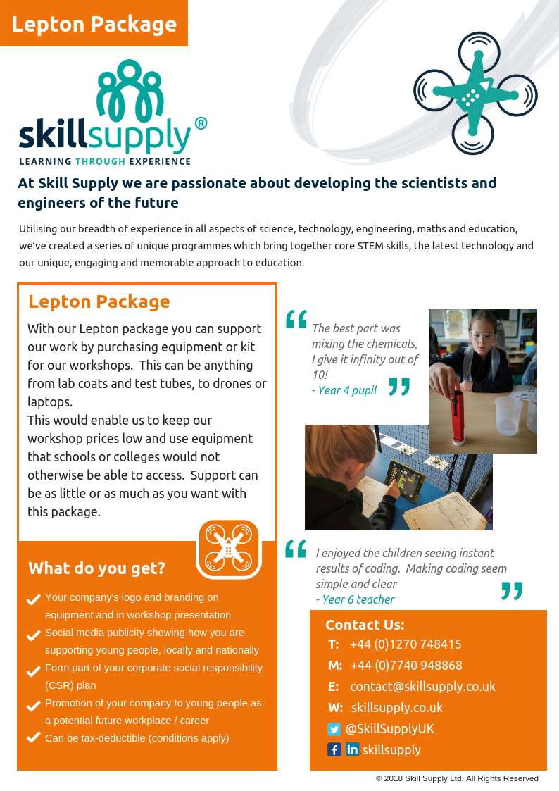 Donate or help to buy equipment or resources for our workshops, help more young people learn with you support