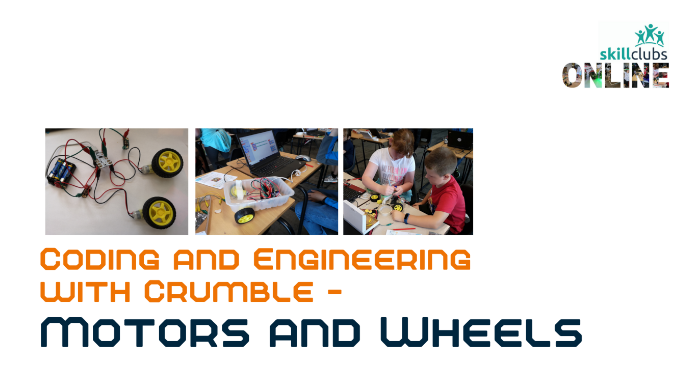 Two motors and wheels to add to your kit and the online course to learn how to use them and get things moving!