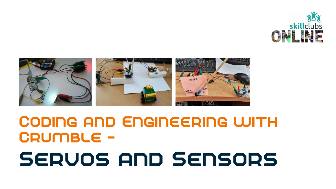 Add a Servo, light sensor and ultrasonic sensor to your kit and move by degrees and autonomously!
